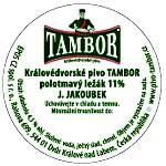 Sudová etiketa polotmavý ležák 11 J. Jakoubek